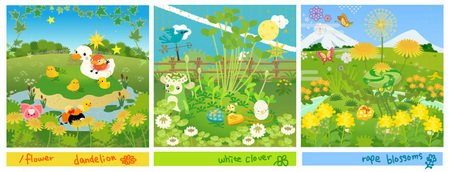 春の草原レイアウト