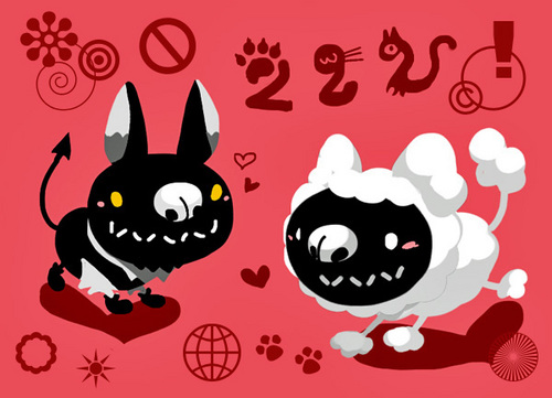 白黒猫かぶり