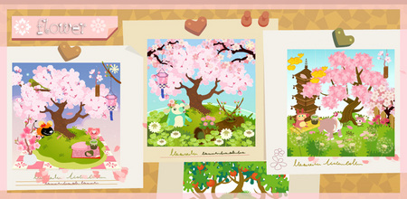 満開桜レイアウト