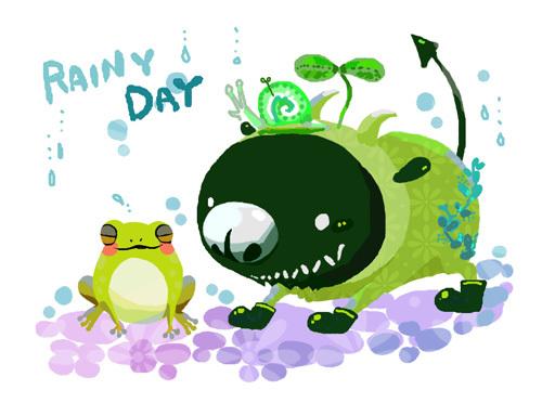 雨の日仲間