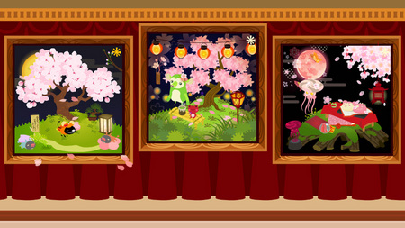 夜桜レイアウト