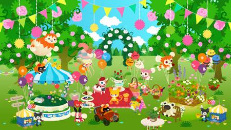 ガーデンフェスティバルの野原背景