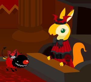ハロウィン赤装束