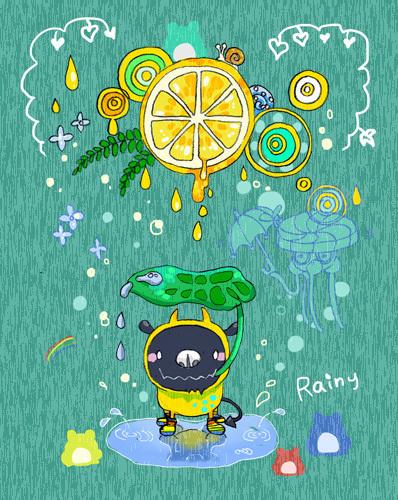 降水確率、果汁100%